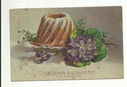 C. Klein * Catharina Klein * Unsign. * HWB Ser. 2718 * Geburtstag * Kuchen * 1932 - Klein, Catharina