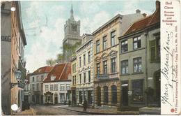 W664 Bad Cleve Kleve - Grosse Strasse Und Schwanenburg / Viaggiata 1904 - Kleve
