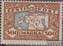 Estonia 54 (complete Issue) Fine Used / Cancelled 1924 Postage Stamp: Map - Estonia