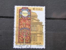 *ITALIA* USATI 2004 - CENT TEMPIO MAGGIORE ROMA - SASSONE 2766 - LUSSO/FIOR DI STAMPA - 6. 1946-.. Repubblica