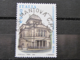 *ITALIA* USATI 2004 - CENT TEMPIO MAGGIORE ROMA - SASSONE 2765 - LUSSO/FIOR DI STAMPA - 6. 1946-.. Repubblica