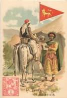 CHROMO CHICOREE  LA BELLE JARDINIERE C.BERIOT A LILLE THEME LA POSTE EN ABYSSINIE - Sonstige