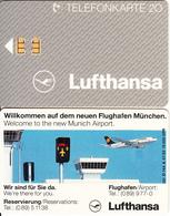 GERMANY - Lufthansa/Munich Airport(O 144 A), Tirage 15000, 07/92, Used - Vliegtuigen