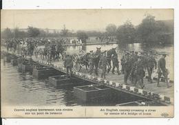 Guerre 1914-18   En France  Convoi Anglais  Traversant Une Riviere - Reino Unido