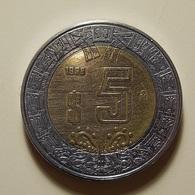 Mexico 5 Pesos 1998 Varnished - Mexico