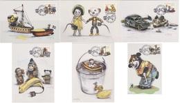 OLD TOYS Vieux Jouets Altes Spielzeug -  MAXIMUM CARDS Slania Naszarkowski - Sweden 2000 MI 2194 - 2199 - Puppen