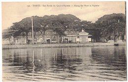 PAPEETE TAHITI Peu Courant Petit Tirage :  Les Bords Du Quai à Papeete - Along The Warf In Papeete - Ed Gauthier N° 132 - Polynésie Française