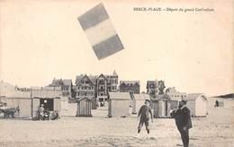 62- BERCK-PLAGE Départ D'un Grand Cerf-Volant- Voyagée 1908 - Berck