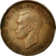 Monnaie, Grande-Bretagne, George VI, Farthing, 1943, TB+, Bronze, KM:843 - 1971-… : Monnaies Décimales