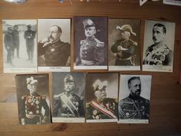WW1. LOT DE CPA PERSONNALITES MILITAIRES. GENERAL GALLIENI / GENERAL FOCH / GENERAL JOFFRE / LE GRAND DUC NICOLAS / LE - Personnages