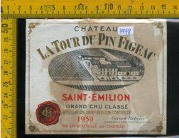 Etichetta Vino Liquore Chàteau Saint-Emilion Francia - Etiquettes