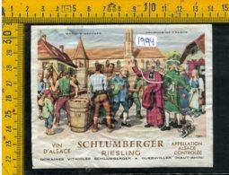 Etichetta Vino Liquore Riesling Schlumberger Alsace Francia - Labels
