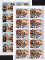 1983 Militär Libyen 1191/6 KB ** 70€ Revolution Flugzeug Abwehr Schnellboot Panzer Hb S/s Woman Sheetlets Bf Libyan - Libye