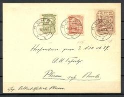 German Occupation Russia 1942 PSKOV Pleskau Michel 14 - 16 On Post Card - Occupation 1938-45