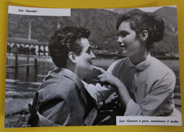 COPPIA INNAMORATI  LUI E LEI FRASI D'AMORE CARTOLINA BROMOFOTO Vera Fotografia - Couples