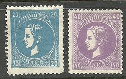 SERBIEN SERBIA 1869 Michel 14 & 17 (*) - Serbie