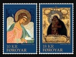 Faroe Islands 2018 Mih. 939/40 Christmas. Icons Of Faroe Islands And Russia MNH ** - Féroé (Iles)