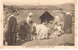 POSTAL   MARRUECOS  -AFRICA  - VENDEDORES DEL ZOCO - Marruecos