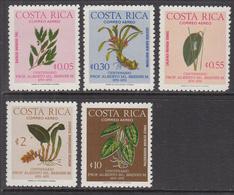 1976 Costa Rica Mora Botany Plants Complete Set Of 6 MNH - Costa Rica