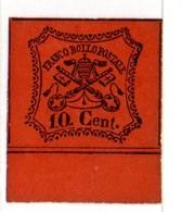 ASI180h - PONTIFICIO , 10 Cent Francobollo Non Ultimato (n.33) - Etats Pontificaux