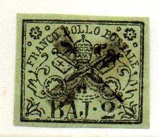 ASI184a - PONTIFICIO 1852, 2 Baj Usato - Etats Pontificaux