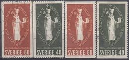 SUECIA 1964 Nº 516/17 + 516a/17a USADO - Suecia