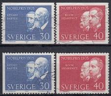 SUECIA 1965 Nº 529/30 + 529a/30a USADO - Suecia