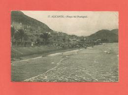 Postal Antigua De Alicante Playa Del Postiguet Muy Buen Estado - Alicante