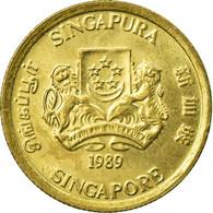 Monnaie, Singapour, 5 Cents, 1989, British Royal Mint, TTB, Aluminum-Bronze - Singapour