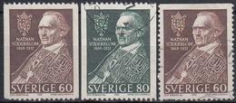SUECIA 1966 Nº 531/32 + 531a USADO - Suecia