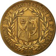 France, Jeton, Notaires De L'Arrondissement De Saint-Etienne, 1886, SPL, Bronze - France