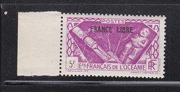 OCEANIE 147 FRANCE LIBRE LUXE NEUF SANS CHARNIERE - Ozeanien (1892-1958)