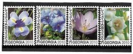 Georgia.2010 Flowers. 4v: 1, 1.2, 2, 3  Michel # 589-92 - Géorgie