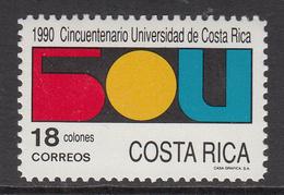 1990 Costa Rica University Education Complete Set Of 1  MNH - Costa Rica