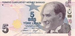 Turkey P.222 5 Lirasi 2009   Unc - Turquie