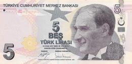 Turkey P.222 5 Lirasi 2009   Unc - Turkey
