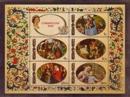 90526)Isole Cook Foglietto Natale 1969-BF MNH** - Cook