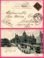 Exposition Universelle 1900 - Pavillon Italie Pont Invalides - Tram Chevaux - Animée - L.L. - Oblit. PARIS DEPART 1900 - Ausstellungen