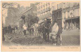 PARIS VECU Petits Métiers D'Antan Aux Halles Enlèvement Des Détritus Attelage De Chevaux Devanture Biscuits MONTBOZON - France