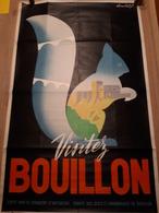 OUDE AFFICHE 1950-1965, VISITEZ BOUILLON , (62x96cm),ILLUSTRATEUR J. LAMBERT - Affiches