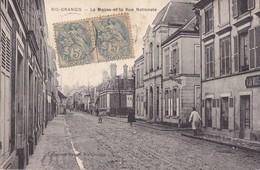 RIS-ORANGIS - La Mairie Et La Rue Nationale - Ris Orangis