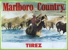 MARLBORO COUNTRY * CIGARETTE TABAC - COW BOY - WESTERN * GRAND AUTOCOLLANT 2904 * - Autocollants