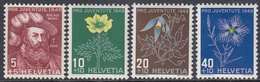 Switzerland 1949 - Pro Juventute: Wengi; Flowers - Mi 541-544 ** MNH - Suiza
