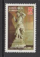 1994 Costa Rica Theatre Art Sculpture Drama   Complete Set Of 1 MNH - Costa Rica