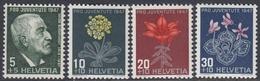 Switzerland 1947 - Pro Juventute: Burckhardt; Flowers - Mi 488-491 ** MNH - Suiza