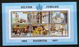 90528) Barbuda 1977 SILVER JUBILEE SG MS 304 Gomma Integra, -BF MNH** - Barbados (1966-...)