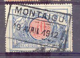 B733 Belgie Spoorwegen Met Stempel MONTAIGU - Chemins De Fer
