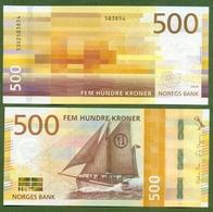 Norway 500 Kroner 2018 UNC  P-56 < Ship > Super Price! - Norwegen