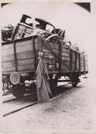 EISENBAHN FUHR SCHIFFAHRT AUF DER BERESINA  FOTO DE PRESSE WW2 WWII WORLD WAR 2 WELTKRIEG Aleman Deutchland - Trenes