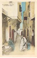 POSTAL   TANGER  -MARRUECOS  -UNE RUE DU QUARTIER ARABE - Tanger